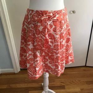 J. Crew size 8  Floral Pleated midi skirt